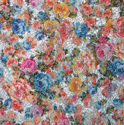 Embossed and printed Leather in Flower Look